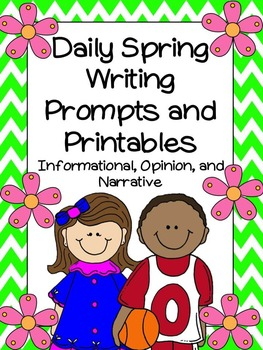 Daily Spring Writing Prompts and Printables