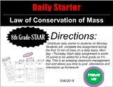 Daily Starter - Law of Conservation of Mass
