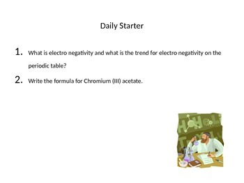 Daily Starter Questions for Chemistry