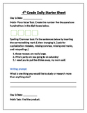 Daily Starter Sheets