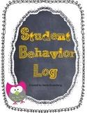 Daily Student Behavior Log