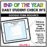Daily Student Check In's Volume 3 || Distance Learning