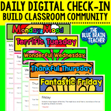 Daily Student Check-In's for Google Classroom (Google Form)