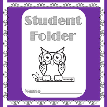 Daily Student Folder-Owl Themed