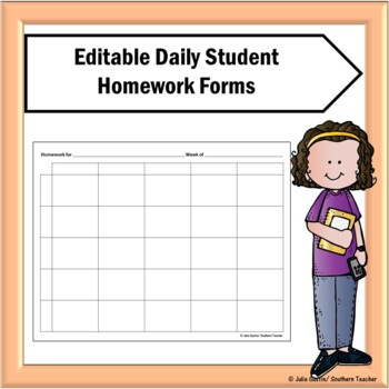 Daily Student Homework Form