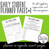 Daily Student Planner Pages #1: Self-regulation, organizat