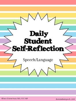 Daily Student Reflection - Speech & Language