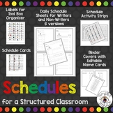 Student Schedules for a Structured Classroom