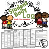 Daily Student Success Log (black-line version)
