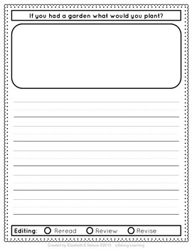 Daily Student Writing Journal- 180 Daily Writing Prompts Booklet for grades 1-2