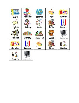 Daily Student or Class Schedule (Editable)