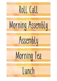 Daily Subject Cards for Visual Schedule