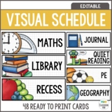 Classroom Daily Schedule Cards - EDITABLE