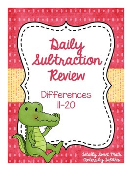 Daily Subtraction Review- Differences 11 to 20