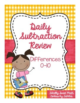 Daily Subtraction Review- Differences to 10