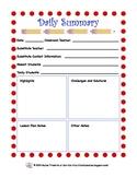 Daily Summary Form