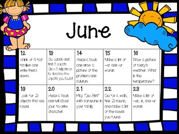 UPDATED Daily Summer Activities K/1: A Daily Activity Keeps the Brain Working