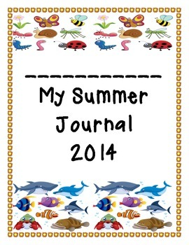 Daily Summer Calendar Journal