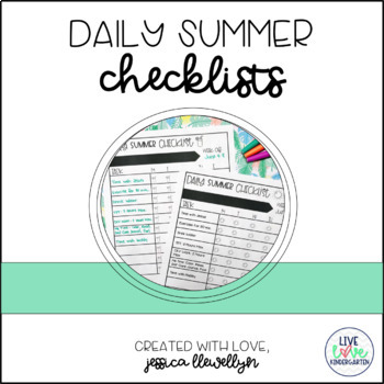 Daily Summer Checklists