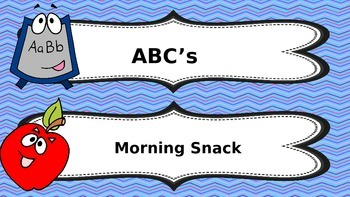 Daily Summer Schedule Labels for Toddlers