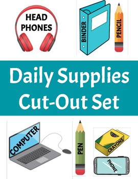 Daily Supplies Cut Out Set