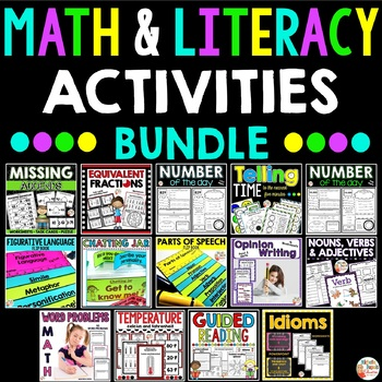 Daily Survival Kit - 10 Math and Literacy resources ALL IN ONE