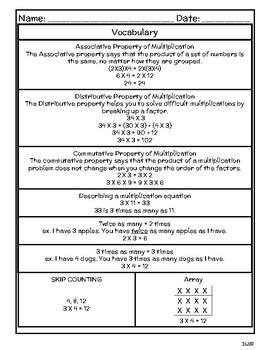 Daily TEKS Review 3 | Homework 3rd Grade - Multiplication Word Problems