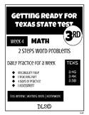 Daily TEKS Review 4 | Homework 3rd Grade - Multiplication 2 steps Word Problems