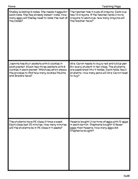 Daily TEKS Review 4 | Homework 3rd Grade - Multiplication 2 steps Word Problems