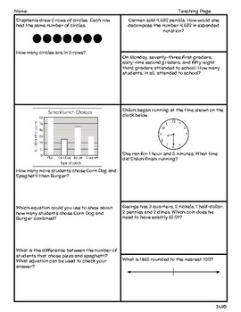 Daily TEKS Review 2 | Homework 3rd Grade