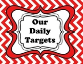 Daily Targets (I Can statements) and PA Core Standards che