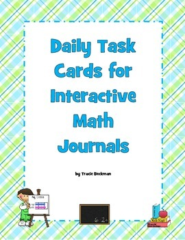 Daily Task Cards for Interactive Math Journals