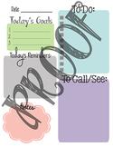 Daily Task Sheet