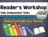 Daily Tasks & Posters for Readers Workshop Literacy Groups