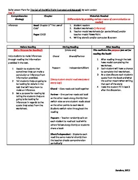 Call of the Wild (Adapted Version) Daily Lesson Plans