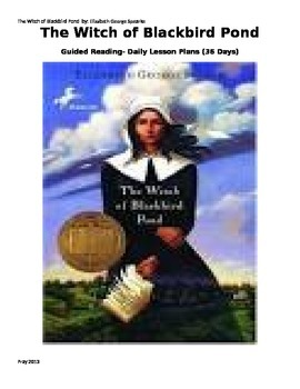 The Witch of Blackbird Pond Daily Lesson Plans