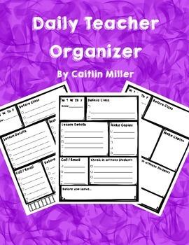 Daily Teacher Organizer