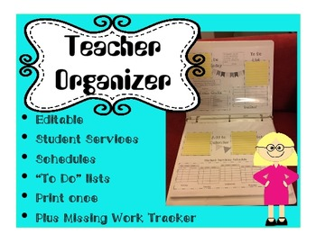 Daily Teacher Organizer Sticky Notes Editable
