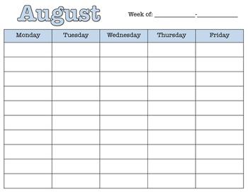 Daily Teacher Planner