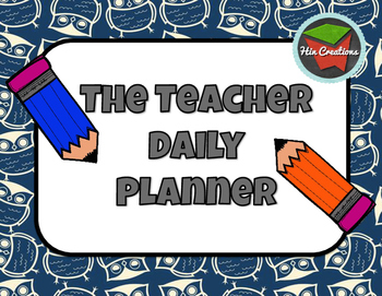 Daily Teacher Planner