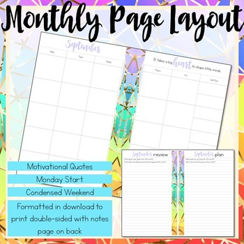 Daily Teacher Planner, Half-Page Size