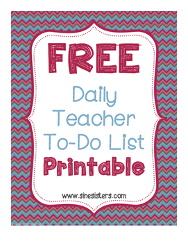 Daily Teacher To-Do Printable