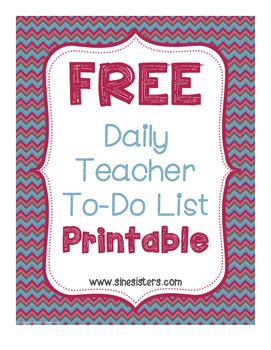 Daily Teacher To-Do Printable