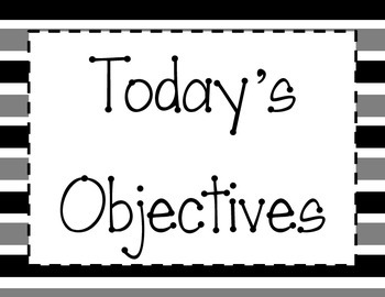 Daily Teaching Objectives