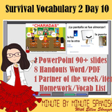 Spanish 1 Day 10  90% Target Language Lesson - DTG Survival Expression 8 - 16
