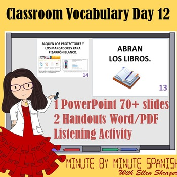 Spanish 1 Day 12 90% Target Language Lesson - DTG Classroom Items and Colors 1