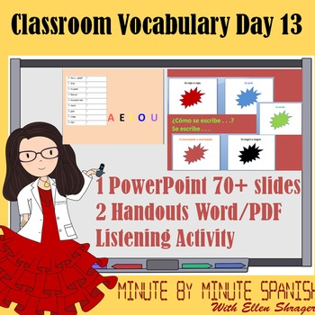 Spanish 1 Day 13  90% Target Language Lesson - Classroom Vocabulary and Colors