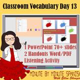 Spanish 1 Day 13  90% Target Language Lesson - Classroom V