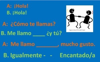 Spanish 1 Day 2  Greetings, Get Acquainted Activity, First Week Lessons,