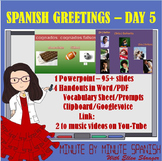 Spanish 1 Day 5 Cognates,  tú y usted, Google Voice Spanis